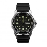 Aqualung Classic Divers Watch -200M stainless steel cases (schwarzer Stellring)