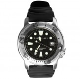 Aqualung Classic Divers Watch -200m stainless steel cases (Stellring Silber)